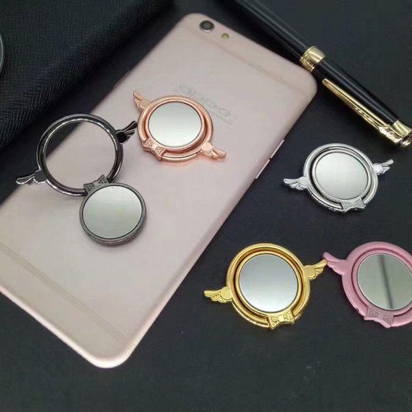 【SZ62】金屬鏡面貓頭指環扣 iPhone 8 x 7 6 HTC 三星 SONY ASUS OPPO 通用指環扣 支架