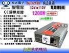 【久大電池】 變電家 SU-12120 純正弦波電源轉換器 12V轉110V 1200W