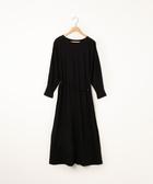 特價 長洋裝 附腰帶 絲光加工 長袖 日本品牌【coen】