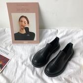 小皮鞋女學生韓版百搭上班工作一腳蹬職業黑色英倫風復古ins平底 蜜拉貝爾