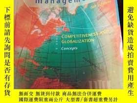 二手書博民逛書店Strategic罕見Management: Competitiveness and Globalization: