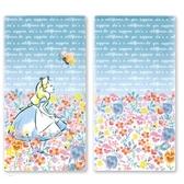 小禮堂 迪士尼 愛麗絲 日製 口罩夾 收納夾 口罩收納 抗菌加工 (藍粉 花朵) 4543479-16324