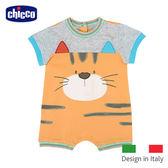 chicco-動物樂園小貓後開短袖兔裝