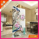 快速出貨 屏風 中式屏風隔斷客廳可移動折屏裝飾簡約時尚臥室經濟型雙面折疊布藝