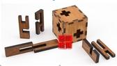 木制玩具 魔盒 孔明鎖魯班鎖