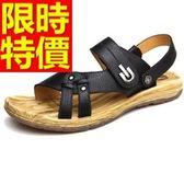 羅馬涼鞋-舒適走秀款夏季皮革男休閒鞋3色55l52[巴黎精品]