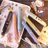 兩用便攜式迷你卡通捲髮棒直髮器空氣劉海電夾板學生不傷髮二合一