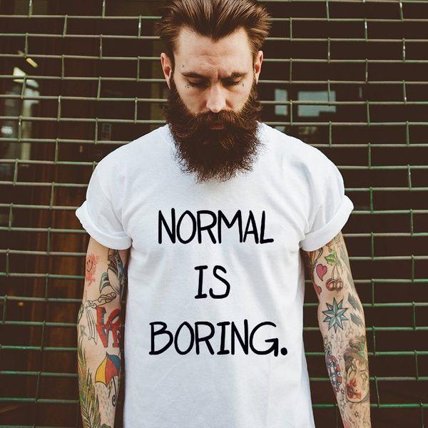 Normal is Boring英文男女短袖T恤-2色 文青 英文 亞洲版型