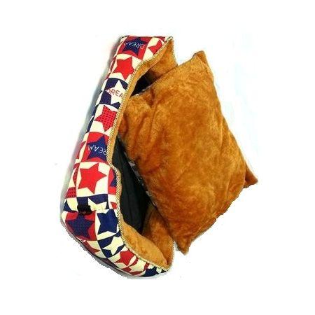 [寵飛天商城] 寵物床 窩 小狗睡床 窩墊 && 滿天星星 舒適柔軟床墊 (可拆洗) 多種花色 不結球 (M號)