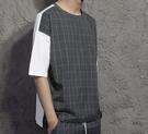 【找到自己】韓國男 套裝 格子 套裝 上加下 優惠款