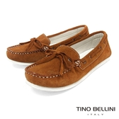 Tino Bellini 麂皮手感自然休閒風格帆船鞋 _ 淺棕 A83064