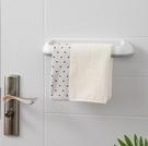 毛巾架 免打孔衛生間浴室吸盤掛架浴巾架子北歐簡約創意單桿毛巾桿【快速出貨八折鉅惠】