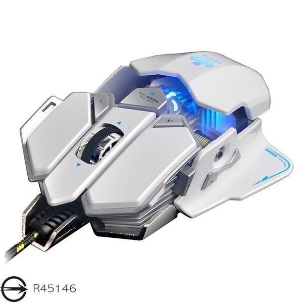 【台中平價鋪】全新 X7變形金剛可程式電競光學滑鼠 頂級遊戲芯片 十鍵自定義 白色 採機械設計