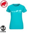 【MAMMUT 瑞士 女 QD Logo Print  AF PRT3短袖T恤 《暗綠瓷》】1017-02021/短T/運動短袖