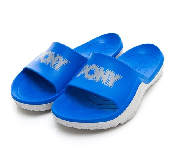 PONY 男女款寶藍灰涼拖鞋-NO.92U1FL07RB