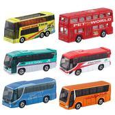 雙十一返場促銷TOMY多美仿真合金小汽車模型兒童玩具車客車觀光雙層巴士奔馳大眾