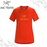 【ARC TERYX 始祖鳥 女 Arc word T-shirt 休閒Tee《曙光紅》】24023/短袖T恤/運動衫/透氣