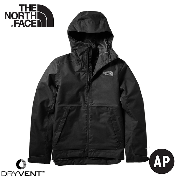 【The North Face 男 DV防水外套《黑》】4UDN/防水透氣衝鋒衣/風雨衣/連帽外套