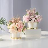 北歐家居乾花假花仿真花客廳裝飾品擺件花束茶幾餐桌花擺花藝擺設 蜜拉貝爾