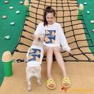 寵物親子裝 韓版法斗衣衛衣大型犬狗狗衣服芝士卡通貓咪衣【小獅子】