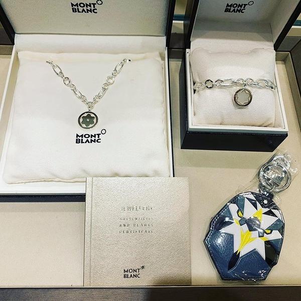 MONT BLANC 明星系列 Signet 純銀項鏈 MP36645 真鑽 設計