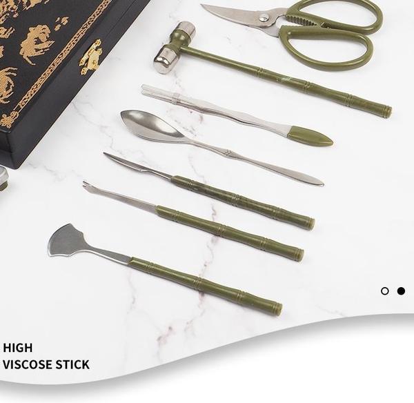 吃蟹工具 不銹鋼家用吃螃蟹專用工具三件套大閘蟹剪蟹針蟹勺蟹夾鉗蟹八件