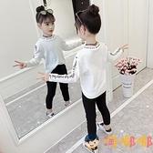 女童長袖t恤秋裝兒童打底衫韓版小女孩上衣【淘嘟嘟】