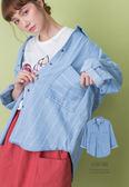 A-SO-BI韓系-雙大口袋直條紋牛仔棉襯衫外套【R91190-01】