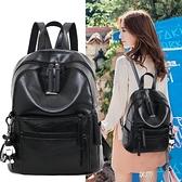 雙肩包女2019新款韓版時尚百搭潮pu軟皮書包大容量背包女包包