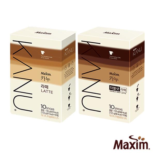 韓國 MAXIM麥心 KANU 孔劉中焙無糖拿鐵系列 原味/雙倍濃縮 (13.5g×10入/盒) 孔劉咖啡 漸層包裝 kanu咖啡
