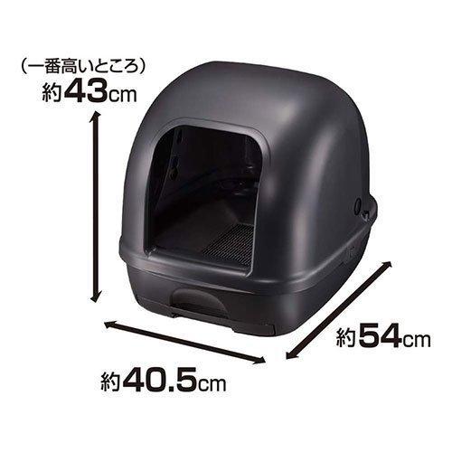 *KING*日本Unicharm Pet消臭大師-一週間抗菌除臭貓砂盆(貓便盆)屋型-象牙白/黑色
