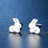 耳環 925純銀鑲鑽-兔子造型情人節生日禮物女飾品73hk3[時尚巴黎]