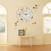 歐式創意圓形客廳石英鍾表挂鍾時尚現代簡約靜音臥室個性家用裝飾