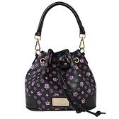【南紡購物中心】【Dennibella 丹妮貝拉】紫色皇冠時尚甜美抽繩包