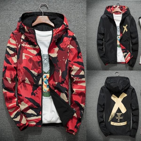 男士外套春秋季韓版兩面穿雙面穿學生潮流帥氣男生薄夾克褂子外衣 草莓妞妞