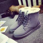 雪靴 2019新款冬季雪地靴女加絨短靴保暖馬丁靴女