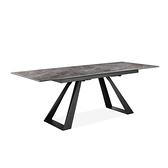 泰貝莎延伸餐桌 大理石紋灰176/216x89.5x75cm