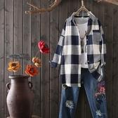 秋冬款棉麻襯衫女 長袖 大尺碼 寬鬆打底衫上衣 超值價