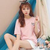 夏季新款短袖睡衣女套裝學生家居服運動兩件套8029#