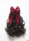 兒童假髮頭飾公主造型假卷髮女童可愛長卷髮新款小孩自然馬尾髮夾-『美人季』