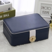 雙層簡約首飾盒公主歐式正韓首飾收納盒飾品盒耳環耳釘戒指收納盒【免運】