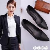中跟鞋 工作鞋女黑色細跟粗跟中跟低跟職業面試上班高跟舒適皮鞋正裝工鞋【全館9折】