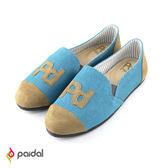 Paidal-PD貼字樂福鞋-天空藍