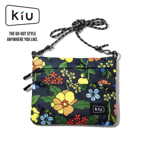 日本【KIU】WATERPROOF SACOCHE W ZIPPER 隨身包 K67-169 罌栗花