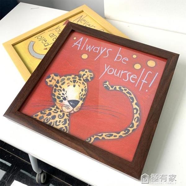 鑽石畫兒童diy鑽石繡卡通動漫小學生 手工貼鑽滿鑽新款大象帶框畫 ATF 極有家