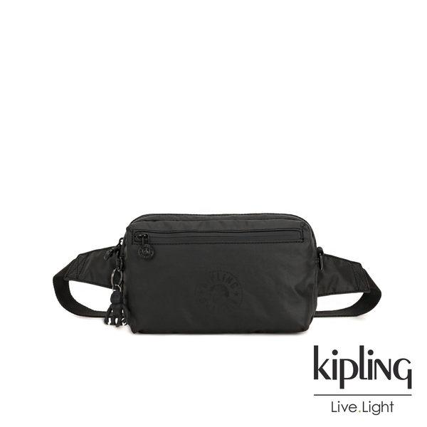 Kipling 低調質感霧黑方形腰包-HALIMA