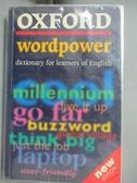 【書寶二手書T4/原文小說_ODN】Oxford wordpower dictionary