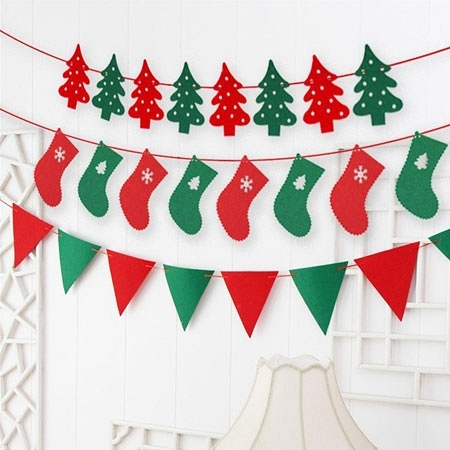 聖誕裝飾吊旗 拉旗 拉花 佈置 擺飾 居家 派對 不織布 毛氈布 裝飾 聖誕節 聖誕