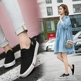 2020夏季新款帆布鞋平底韓版百搭一腳蹬女鞋懶人白鞋小白休閒布鞋 POLY GIRL