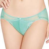思薇爾-撩波系列M-XL蕾絲低腰三角褲(泉水綠)